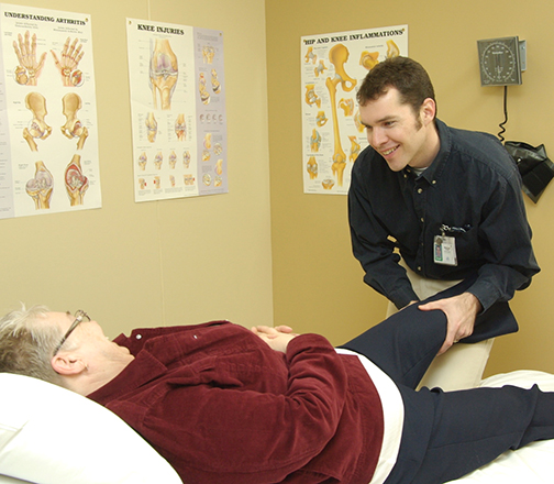 Advanced Phyiotherapist Practitioner assessing a patient